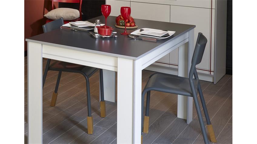 BISTROT 8 Komplettset 2Tlg. Buffetschrank und Tisch in weiß