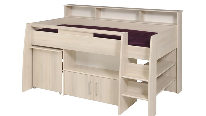 halbhohes bett charly 2 akazie inkl schreibtisch kommode. Black Bedroom Furniture Sets. Home Design Ideas