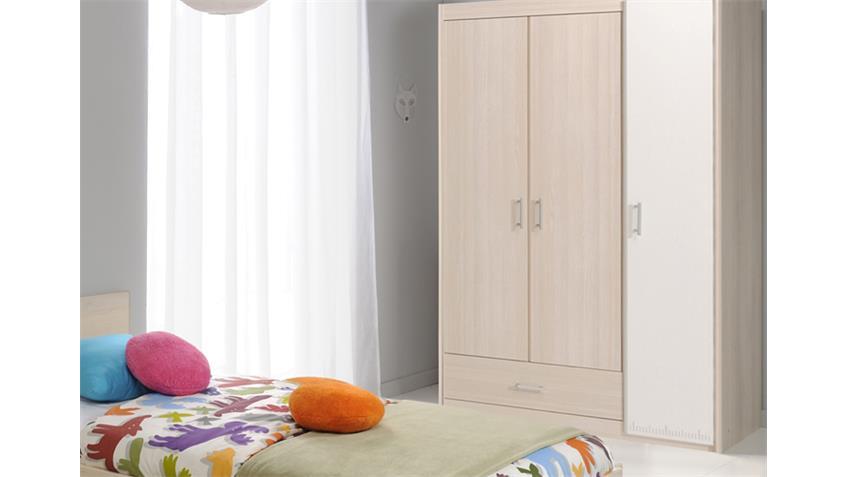 Jugendzimmer CHARLY 14 3-teilig Akazie weiß Schrank 3 trg.