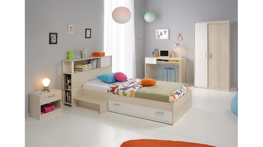 Jugendzimmer CHARLY 15 5-teilig Akazie weiß Schrank 2 trg.