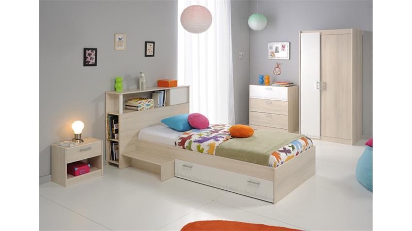 Jugendzimmer CHARLY 16 5-teilig Akazie weiß Schrank 2 trg.