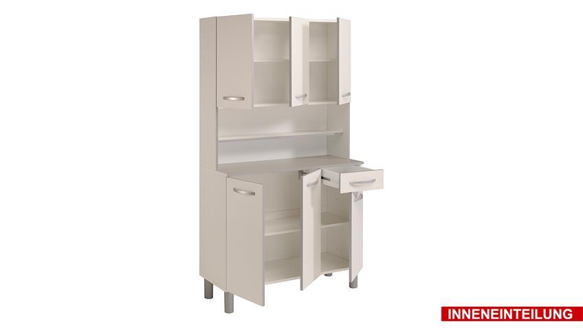 Buffet SEASON Küchenschrank Schrank weiß und Numbers-Look