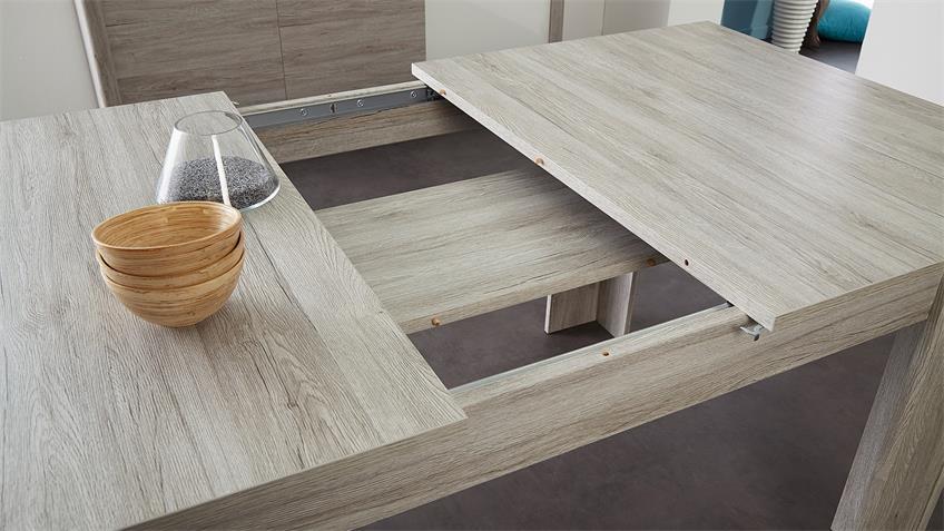 Esszimmer LUNEO Tischgruppe Portofino grau Buche massiv
