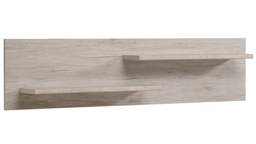 Wohnwand LUNEO Anbauwand in Portofino grau weiß Hochglanz