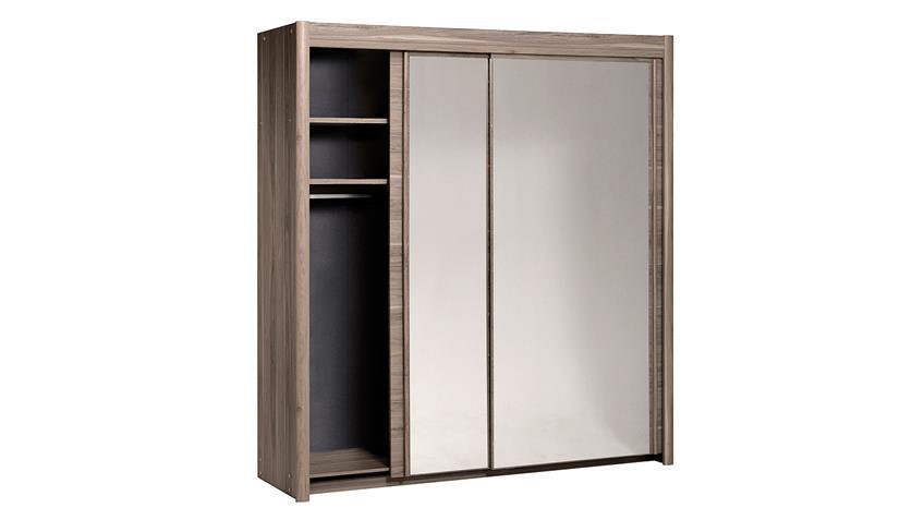 Schlafzimmer Mosta Carlas Neo Set in Eiche Silber mit Spiegel