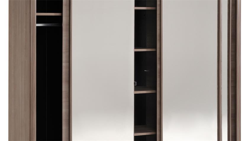Schwebetürenschrank CARLAS in Eiche Silber mit Spiegel 234