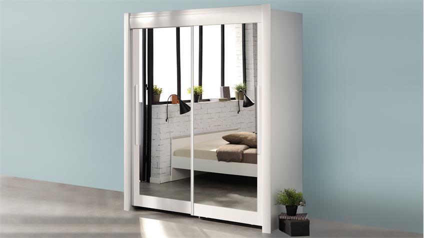 schlafzimmer set celebrity 52 in wei mit bett und schrank 182. Black Bedroom Furniture Sets. Home Design Ideas