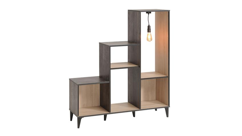 regal set edisson 1 b cherregal eiche kiefer mit beleuchtung 2 tlg. Black Bedroom Furniture Sets. Home Design Ideas