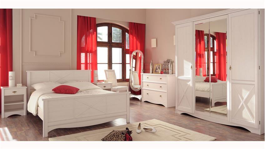 Kleiderschrank MARION 9 weiß Schlafzimmer 4-türig Parisot