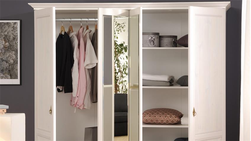 Schlafzimmer MARION 2 weiß Parisot Landhaus Set 6tlg
