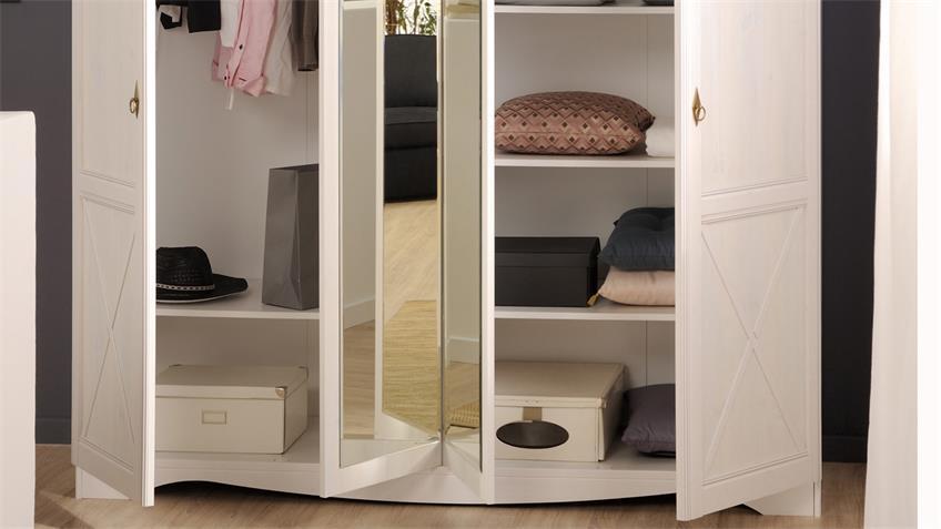 Schlafzimmer MARION 4 weiß Parisot Landhaus Set 5tlg