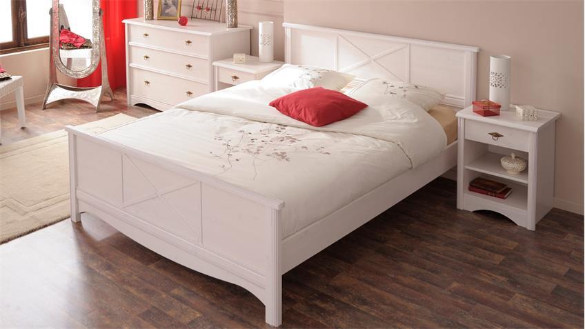 Schlafzimmer MARION 6 weiß Landhaus Parisot Set 5tlg