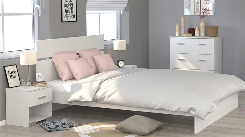 Schlafzimmer GALAXY 125 Parisot Set weiß 4-teilig