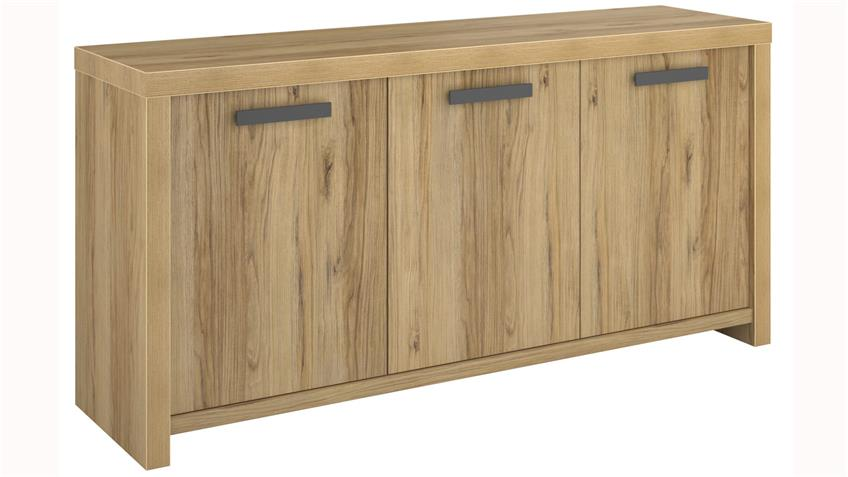 Sideboard LOOD 7 Parisot 3trg Eiche Catanya Echtholz Look