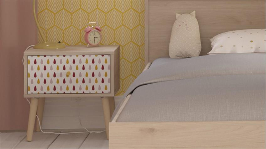 Kinderzimmerset SILYA 10 Parisot Set 2-teilig Eiche Brooklyn