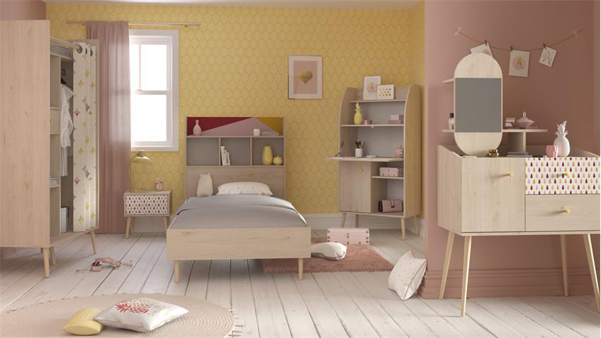 Kinderzimmerset SILYA 1 Eiche Brooklyn Parisot 6-teilig