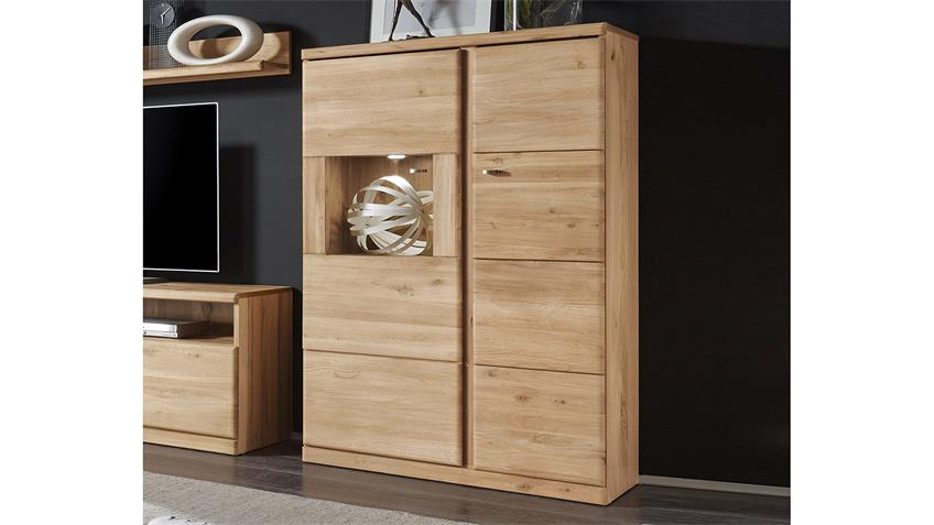 Highboard 2 TERANO in Wildeiche bianco teilmassiv