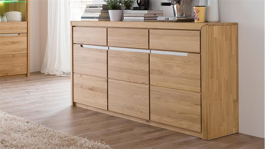 Sideboard 2 FLORENZ Wildeiche bianco massiv Softclose