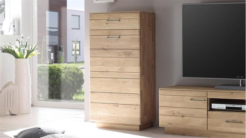 Schrank QUBO Wildeiche bianco massiv Softclose TA links
