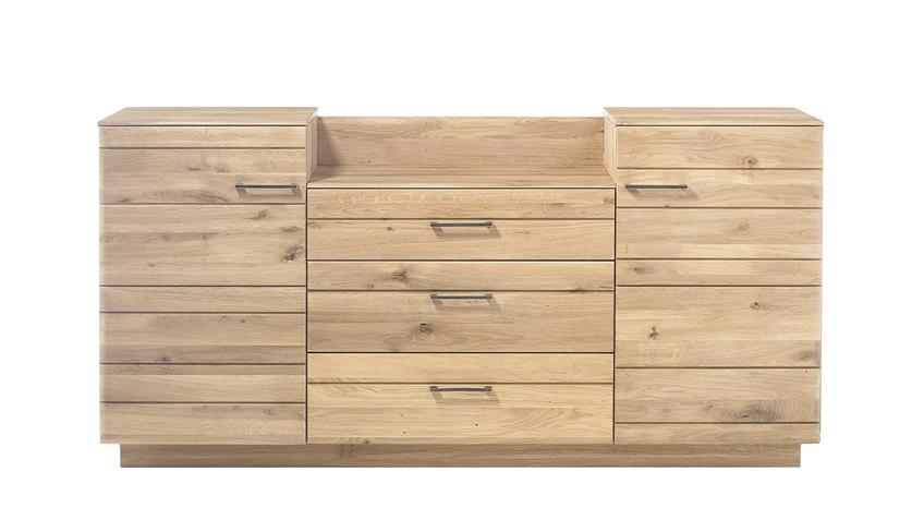 Sideboard QUBO Wildeiche bianco massiv inkl. Softclose