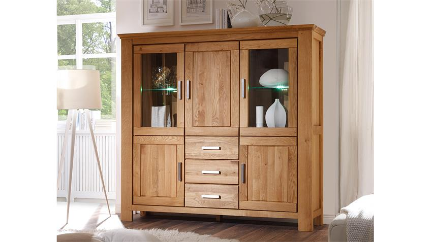 Highboard RIENA in Wildeiche teilmassiv inkl. Softclose