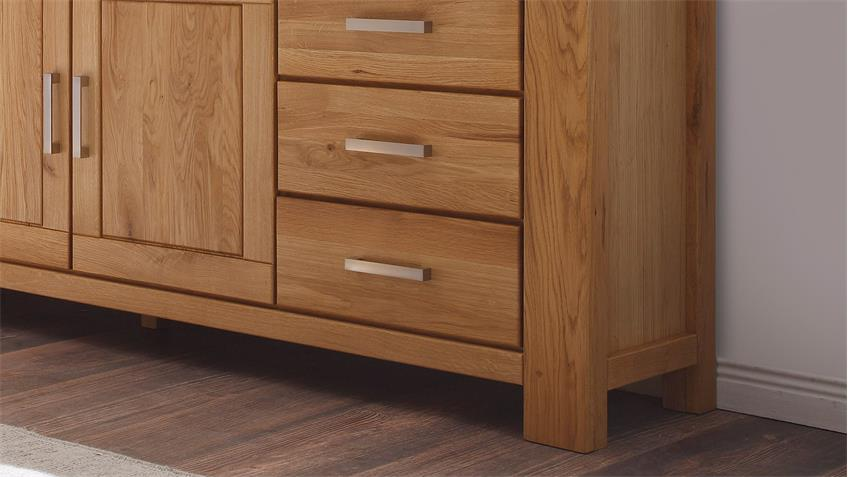 Sideboard 2 RIENA in Wildeiche teilmassiv inkl. Softclose