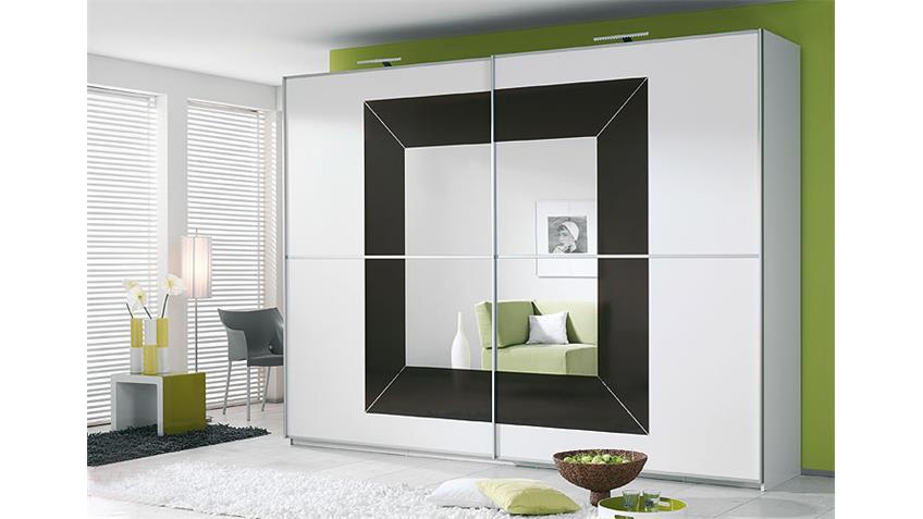 Schwebetürenschrank II FOCUS Weiß Anthrazit 270x236 cm