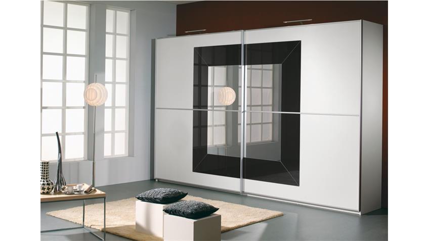 Schwebetürenschrank II FOCUS Weiß Anthrazit 315x236 cm