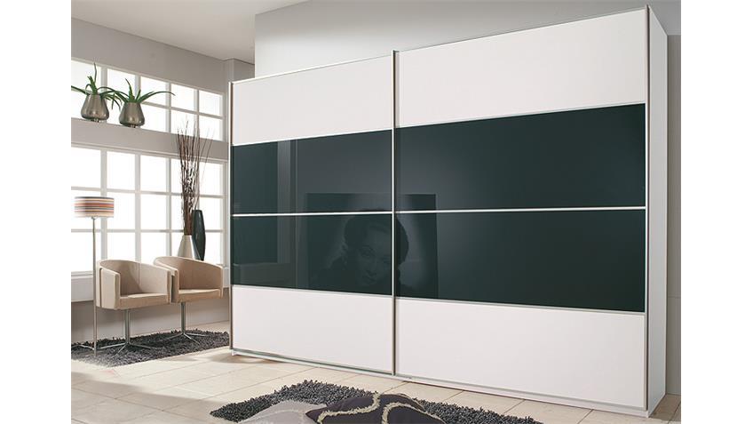 Schwebetürenschrank JUWEL in weiß und schwarz Breite 270 cm