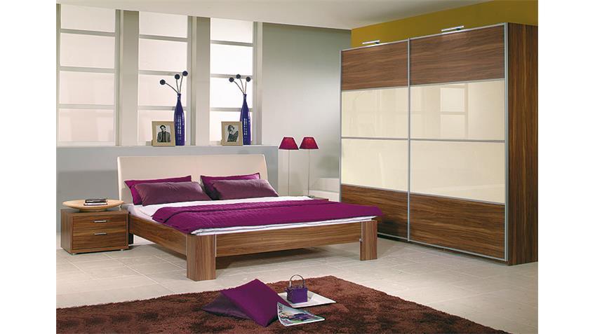JUWEL & PLUS 2 Schlafzimmerset Nussbaun/Weiß