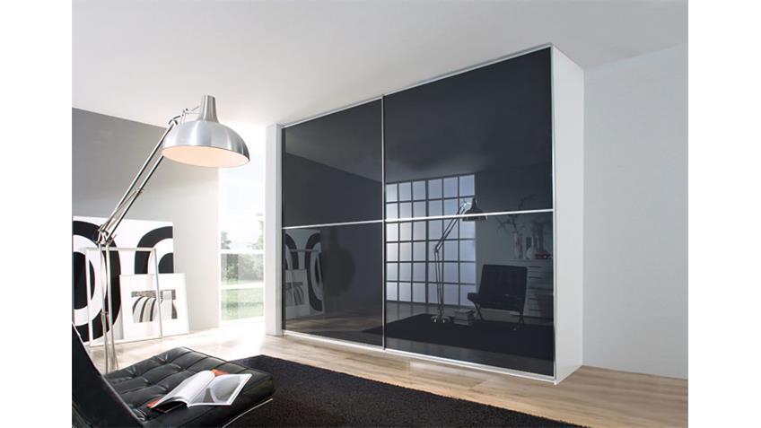 Schwebetürenschrank SANDRIN Kleiderschrank in weiß 359 cm