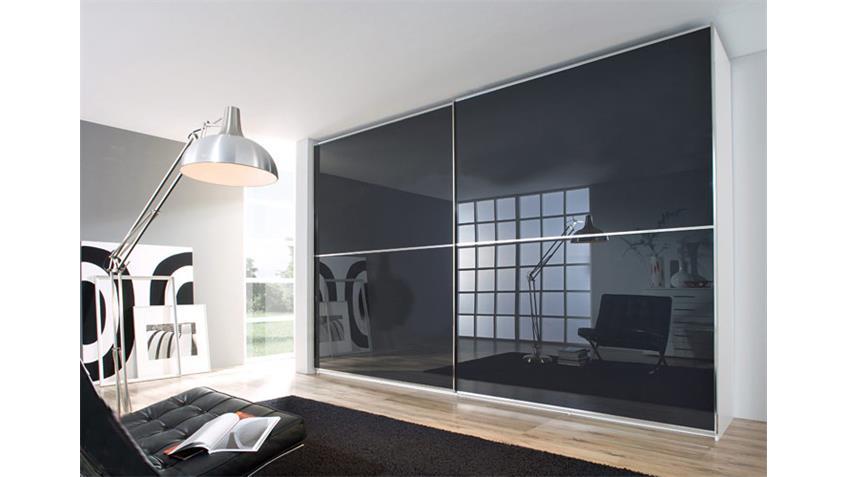 Schwebetürenschrank SANDRIN VI in weiß und anthrazit 359 cm
