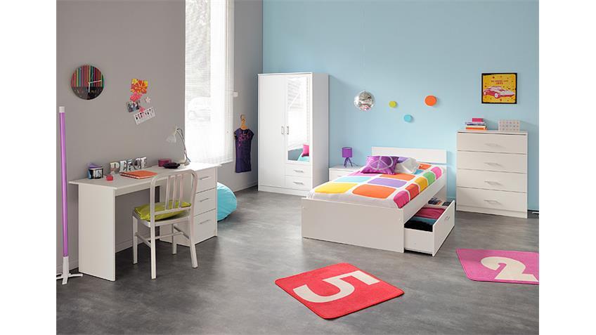 Kleiderschrank INFINITY Schrank in weiß mit Spiegel 90