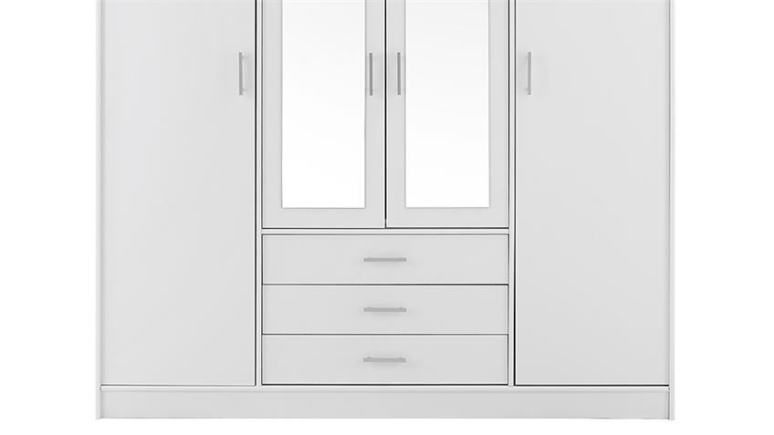 Kleiderschrank INFINITY Weiß Spiegel 176