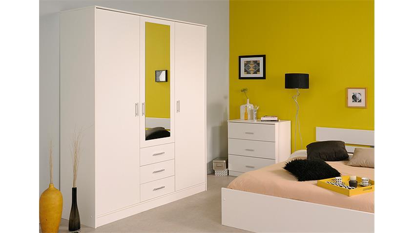 Kleiderschrank INFINITY Weiß Spiegel 148