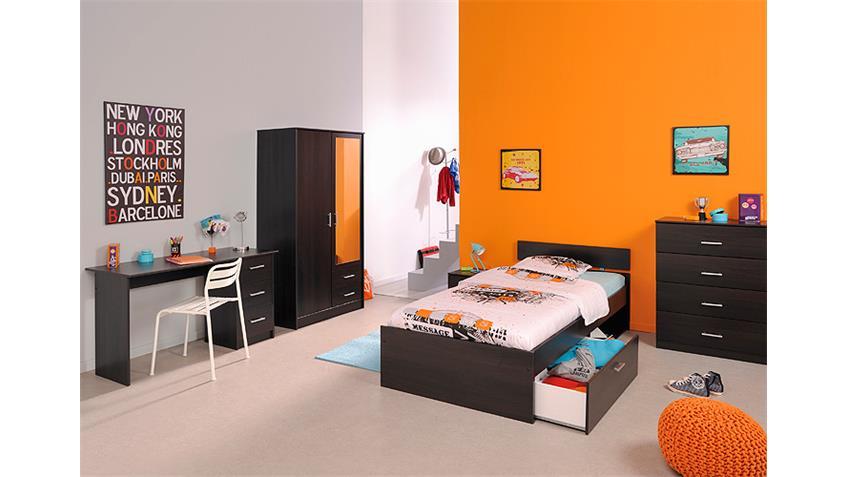 Bett INFINITY Kinderbett Stauraumbett in Kaffee braun 90x200