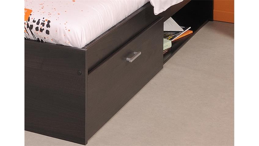 Bett INFINITY Kinderbett in Kaffee braun 140x200 cm