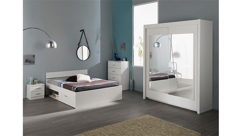 Nachtkommode INFINITY Nachttisch Kommode in weiß Dekor