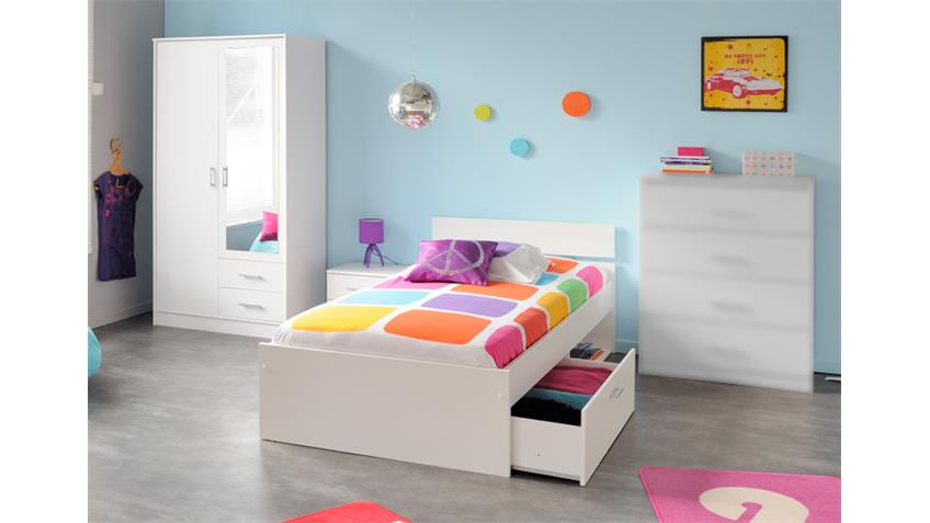 Jugendzimmerset INFINITY 4 teilig Kinderzimmer in weiß