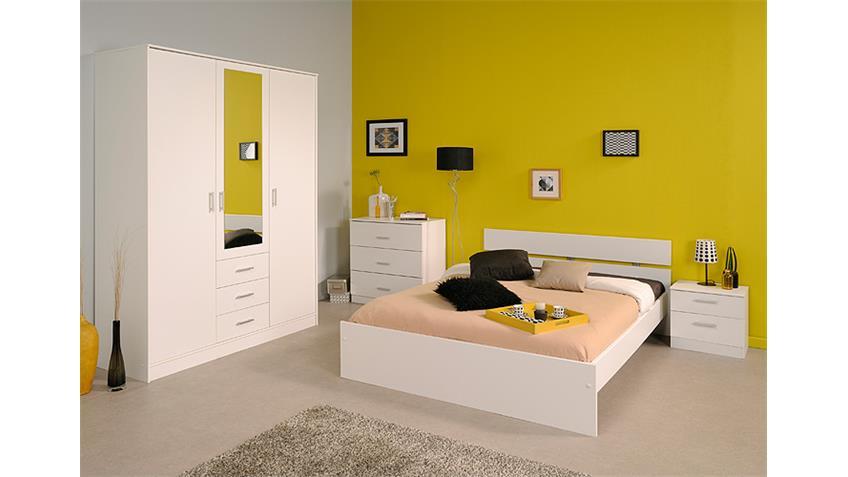 Schlafzimmerset II 4 Tlg. INFINITY Schwebetürenschrank weiß
