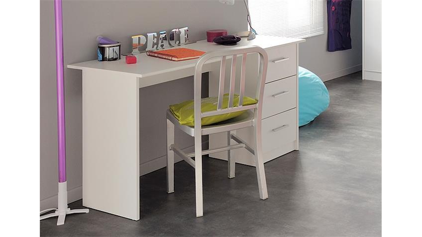 Schreibtisch INFINITY Computertisch Kindertisch weiß Dekor