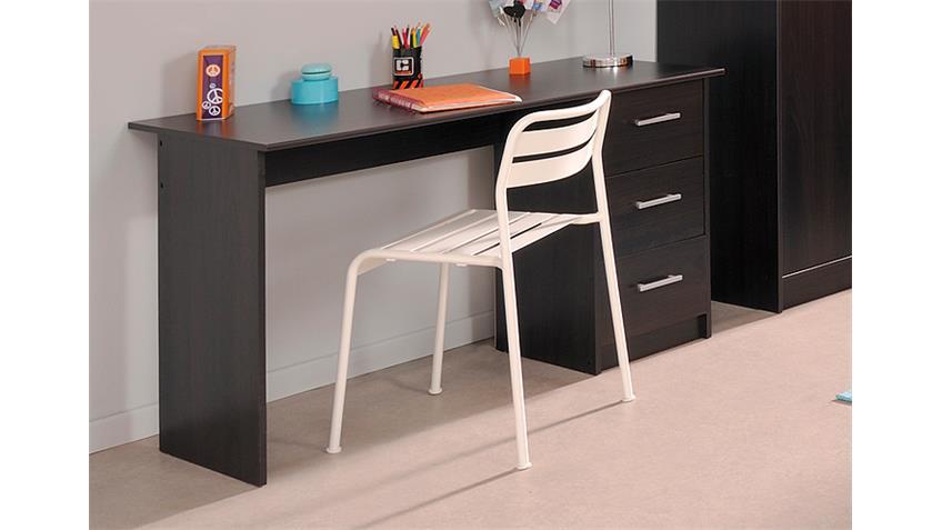 Schreibtisch INFINITY Computertisch in Kaffee braun Dekor
