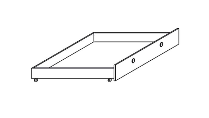 Rollbettkasten BURANO Bettkasten in Weiß auf Rollen