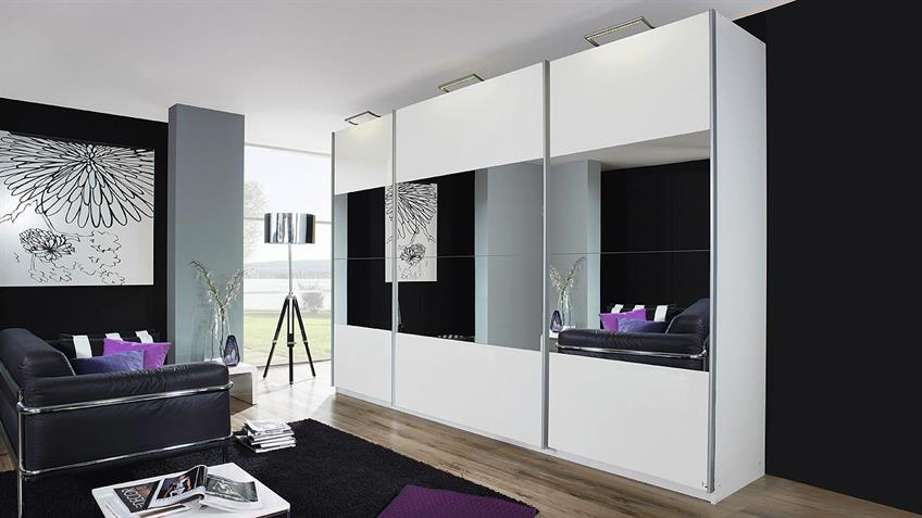 schwebet renschrank beluga in hochglanz wei spiegel 405x223. Black Bedroom Furniture Sets. Home Design Ideas