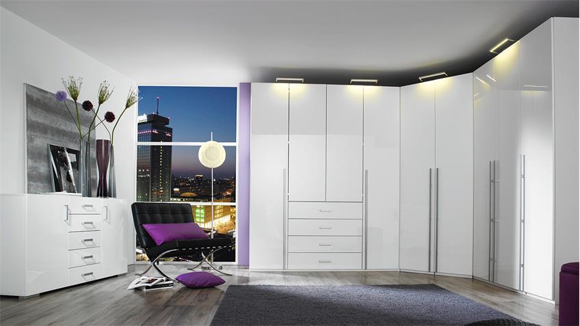 Sideboard ELAN Kommode Anrichte in weiß Hochglanz 144 cm