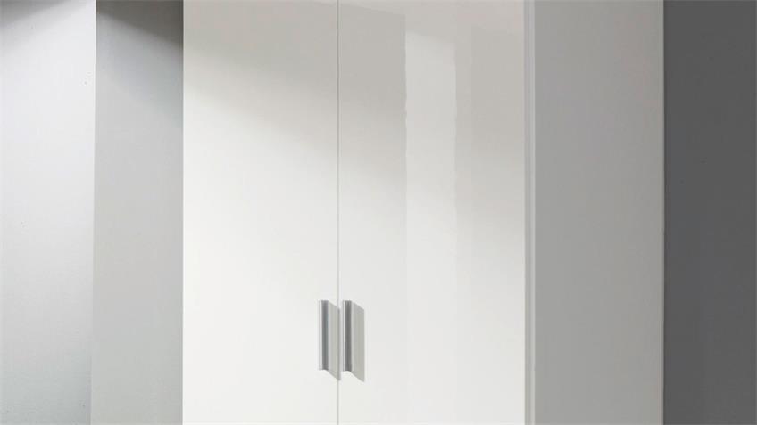 Kleiderschrank 3120 Celle Schrank weiß Hochglanz 91 cm