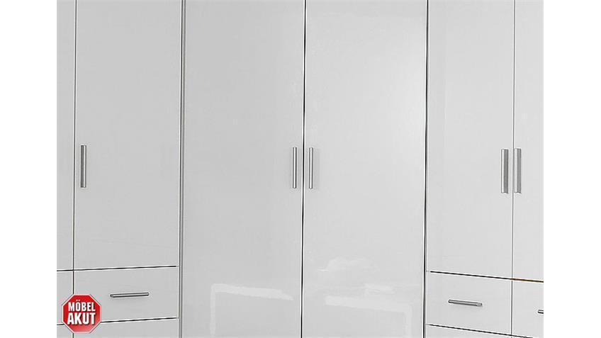 Schrankkombi CELLE Kleiderschrank Schrank in weiß hochglanz