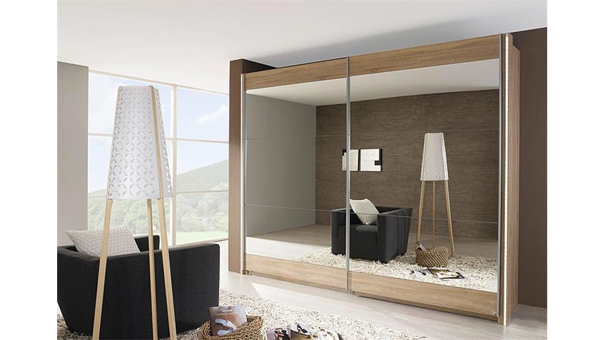 schwebet renschrank kiano sonoma eiche spiegel 270 cm. Black Bedroom Furniture Sets. Home Design Ideas