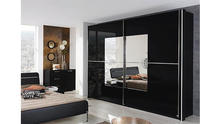 schwebet renschrank nala kleiderschrank in schwarz 270 cm. Black Bedroom Furniture Sets. Home Design Ideas
