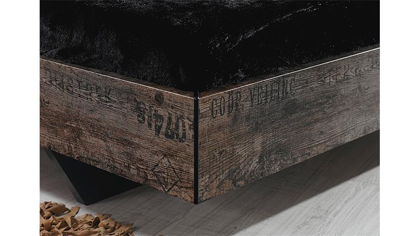 Schlafzimmerset II SUMATRA Schwarz Vintage Braun